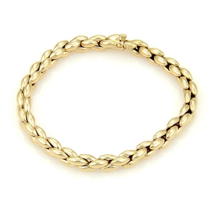 Cartier 18k Yellow Gold Fancy Cluster Link Bracelet 7.5