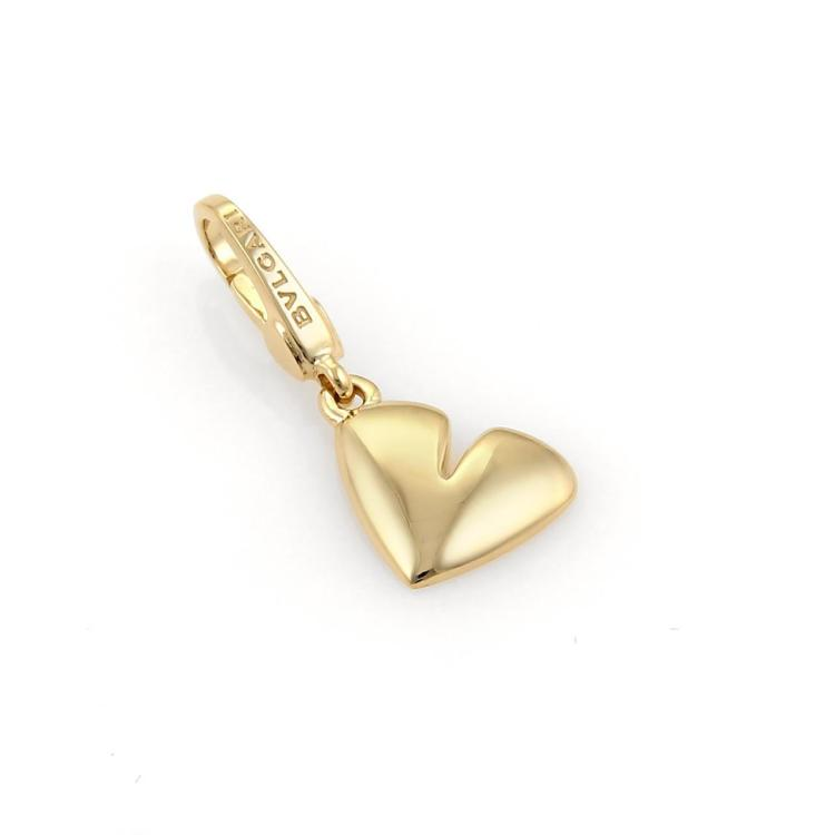 Bulgari Bvlgari 18k Yellow Gold Heart Charm Pendant