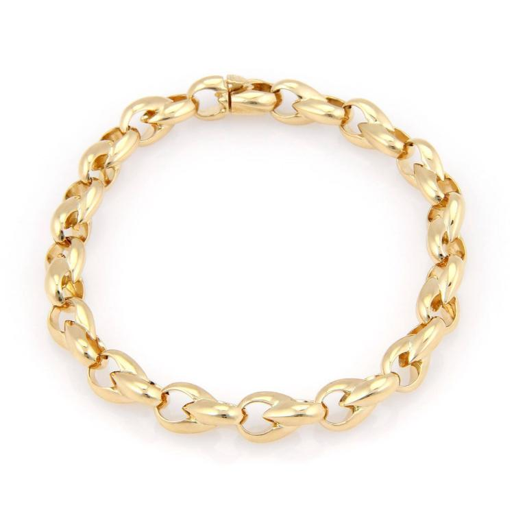 Cartier 18kt Yellow Gold Fine Polished Fancy Link Bracelet