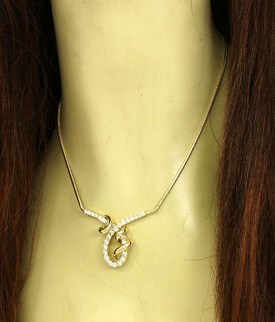 Jose Hess 14k Yellow Gold 3ctw Diamond Fancy Design Necklace