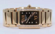 Patek Philippe Twenty 4 Diamond 18k Rose Gold Chocolate Ladies Watch 4908/11R