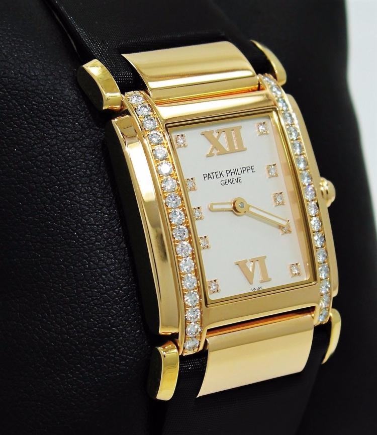 PATEK PHILIPPE TWENTY 4 4920R 18k ROSE GOLD DIAMONDS LADIES WATCH *MINT*