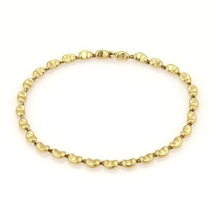 Tiffany & Co. Elsa Peretti 18k Yellow Gold Mini Bean Link Bracelet