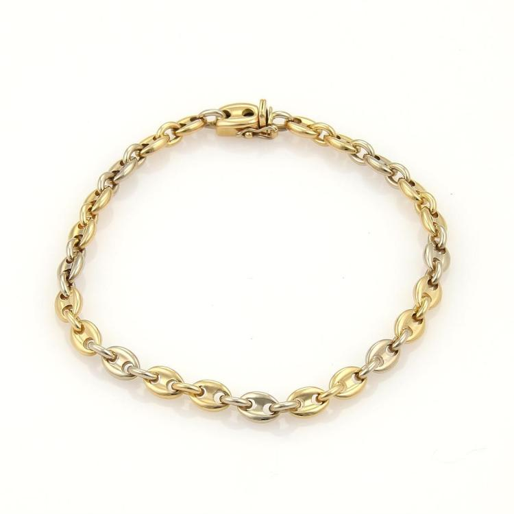Cartier Mariner Anchor Link Bracelet in 18k Yellow & White Gold 7.5