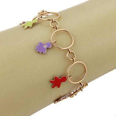 $5,150 NEW Roberta Porrati Baby Caracol 18K Yellow Gold Diamond Charm Bracelet
