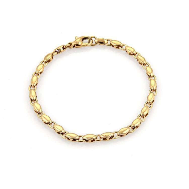 Bulgari Bvlgari 18k Yellow Gold Solid Oval Link Bracelet
