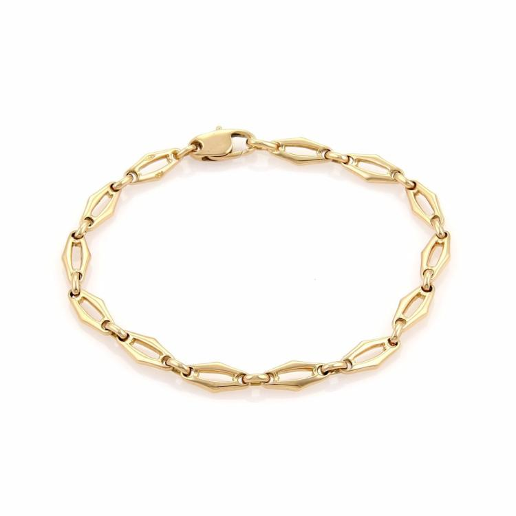 Cartier 18k Yellow Gold Fancy Open Link Bracelet