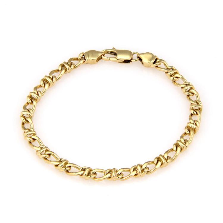Tiffany & Co. Italy 18K Yellow Gold Fancy Chain Link Bracelet - 7.25
