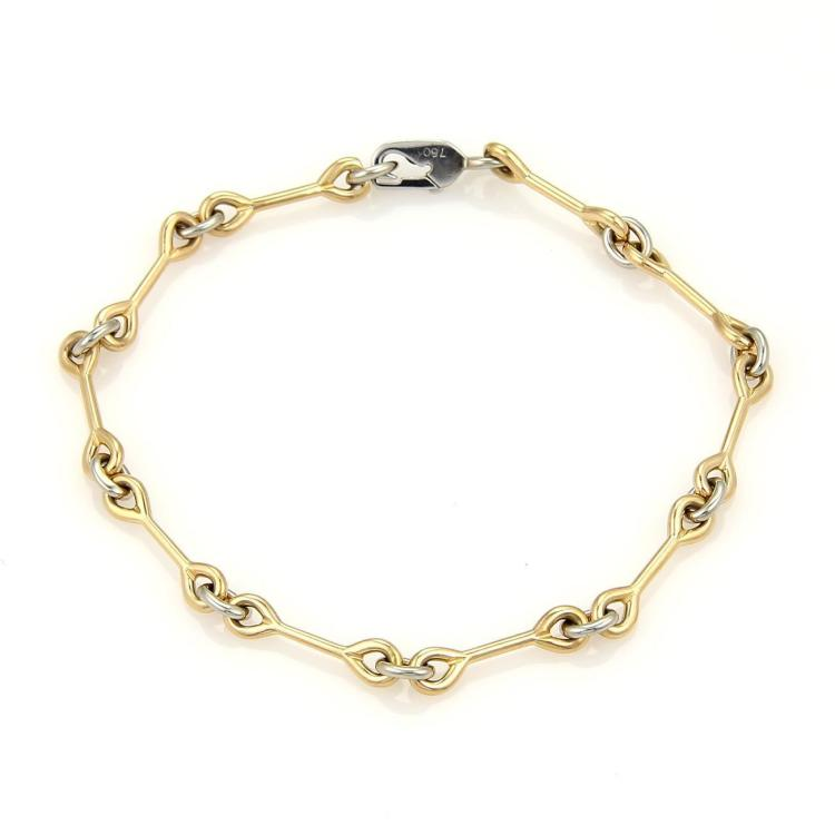 Cartier 18k Yellow & White Gold Wrench Link Bracelet