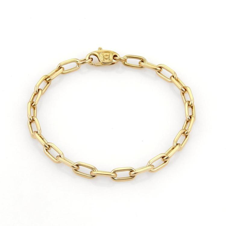 Cartier SPARTACUS 18k Yellow Gold Oval Chain Link Bracelet 6.75