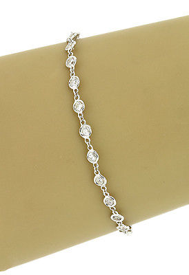 NEW 14K WHITE GOLD 1.5 CTS DIAMONDS BY THE YARD LADIES ETERNITY TENNIS BRACELET