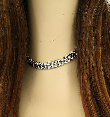 BREATHTAKING SOLID 14K WHITE GOLD & 4.05 CARATS DIAMONDS OPERA DRESS NECKLACE