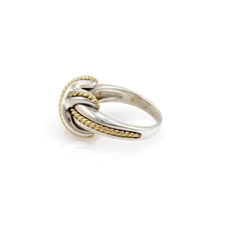 aabe48994 Lot 58A: Tiffany & Co. Sterling 18k Yellow Gold X Crossover Ring Size -