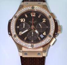 Hublot Big Bang Cappuccino Carbon Dial Factory Diamond 41mm 341.PC.3380.RC.1104