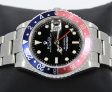 Rolex GMT MASTER PEPSI 16710 Blue/Red 40mm Steel Oyster D Serial MINT CONDITION