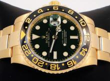 Rolex GMT Master II 116718 18k Yellow Gold Green Dial Ceramic Bezel BOX/PAPERS