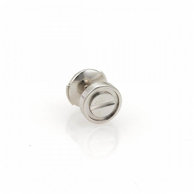 cartier love 18k white gold screw top single stud earring