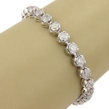 NEW 14K White Gold 15.12 Carat Diamond Tennis Bracelet