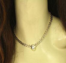 Beautiful 14k Yellow Gold 1.18ct Marquise Cut Diamond Necklace