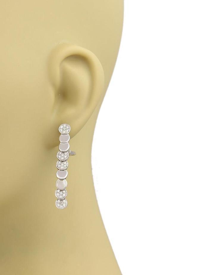 Piaget diamonds 18k white gold disc design long drop dangle for Home design diamonds
