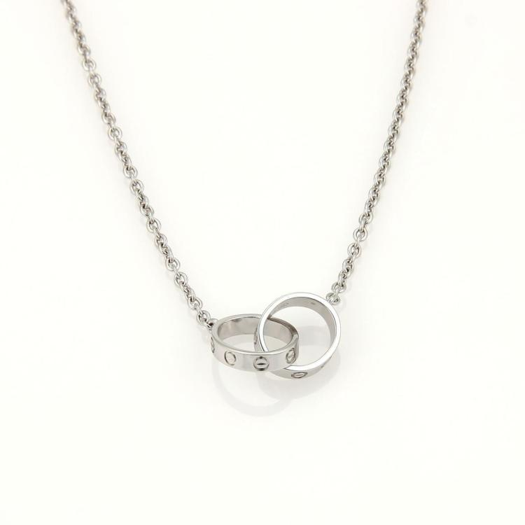 Cartier Infinity Bracelet: Cartier Baby Love Infinity Double Ring Pendant Necklace In 1