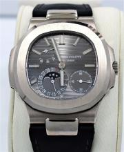 PATEK PHILIPPE 5712G-001 Nautilus Moon Phases 18K White Gold Watch BOX & PAPERS