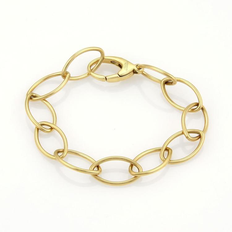 dfd72c86a9fc8 Lot 34B: Tiffany & Co. Vintage 18k Yellow Gold Large Oval Link Bracelet  Germany