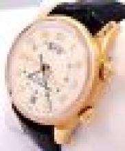 GIRARD PERREGAUX VERY RARE TRAVELLER II GMT ALARM 38mm 18K ROSE GOLD Ref# 4940
