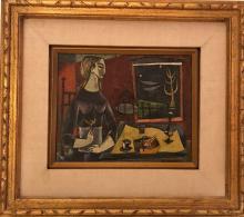 """Bernard Rosenquit: """"Woman with Bird"""""""