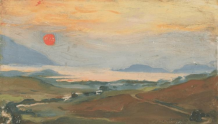 László Fülöp Elek (Pest, 1869 - London, 1937):Sunset, 1905
