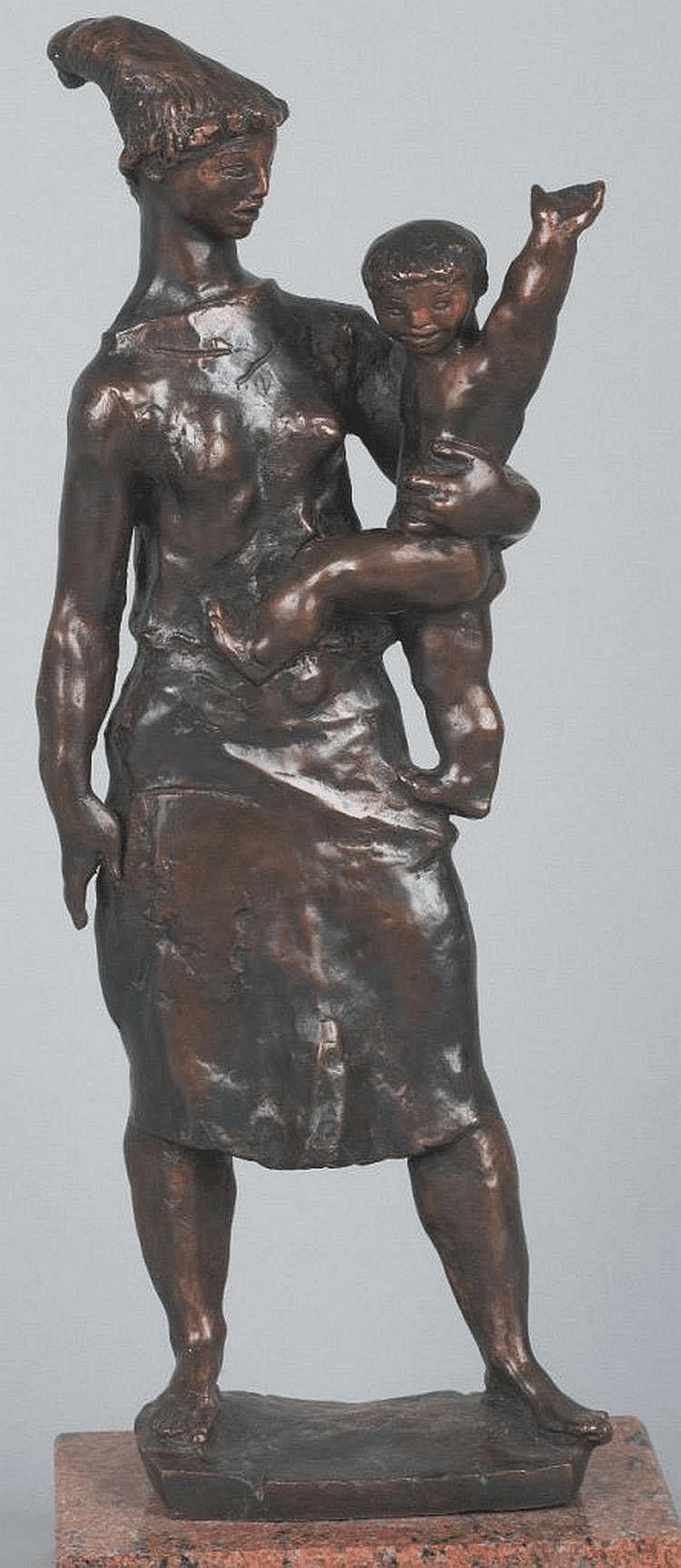 Kerényi Jenõ (Budapest, 1908 - Budapest, 1975):Mother and her child