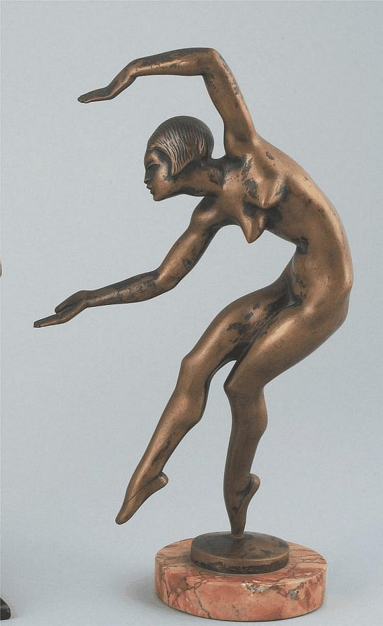 Kerényi Jenõ (Budapest, 1908 - Budapest, 1975):An Art Deco dancer