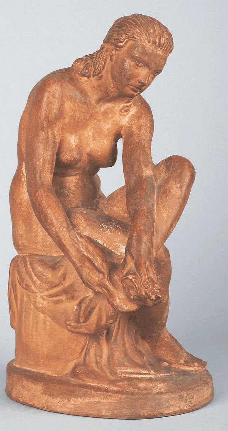 Kisfaludy Stróbl Zsigmond (Alsórajk, 1884 - Budapest, 1975):After the bath