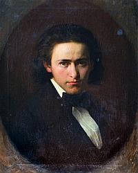 Ingomár Ferenc (Frankel Ignác) (Buda,1838-Budapest,1924.): Portrait of a man