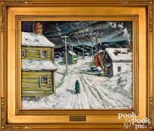 Christopher Willett oil on canvas Pipersville