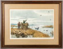 Aiden Lassell Ripley signed lithograph