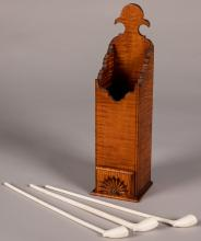 Eldred Wheeler tiger maple pipe box