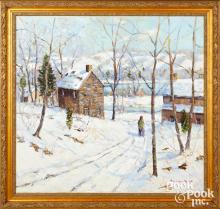 Christopher Willett oil on canvas Lumberville