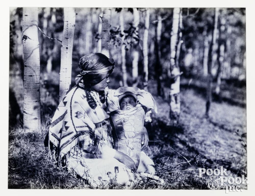 Framed print of a Native American Woman