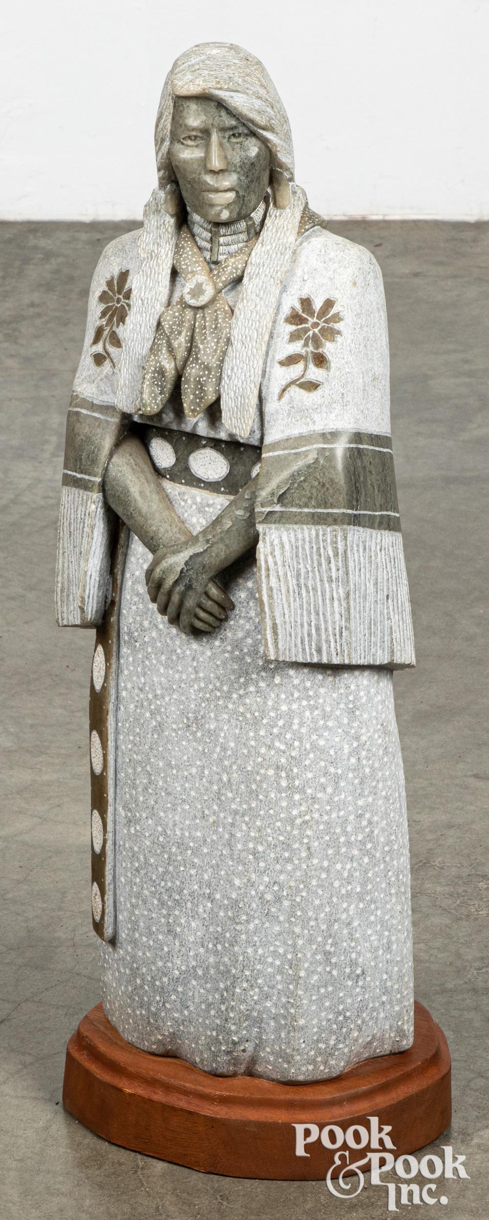 Joe Oreland Sr. carved alabaster figure