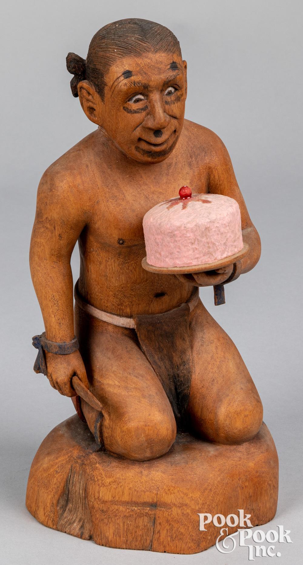 Jim Fred, Hopi Indian carving of a clown kachina