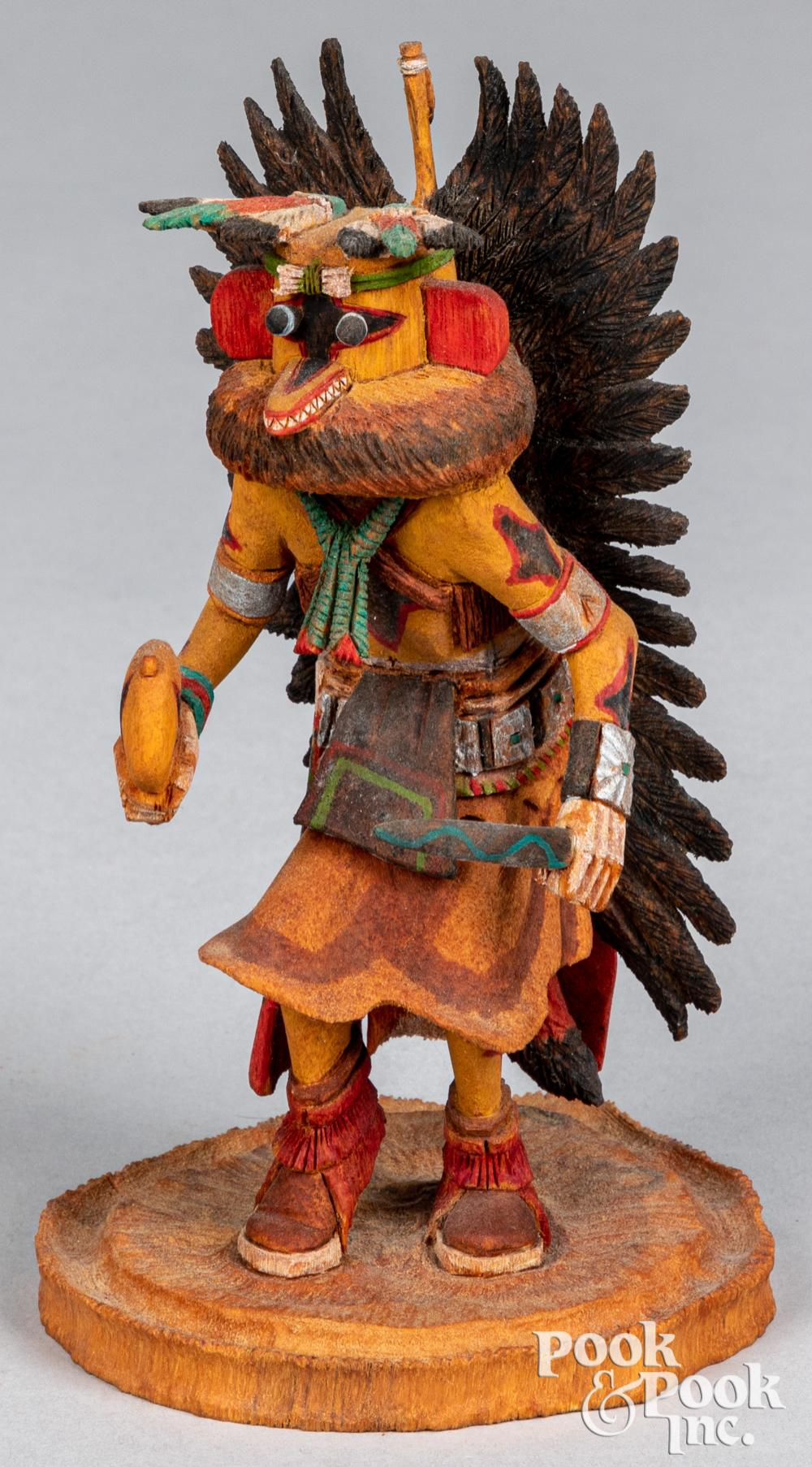 Elgean Joshevama Jr. carved kachina figure