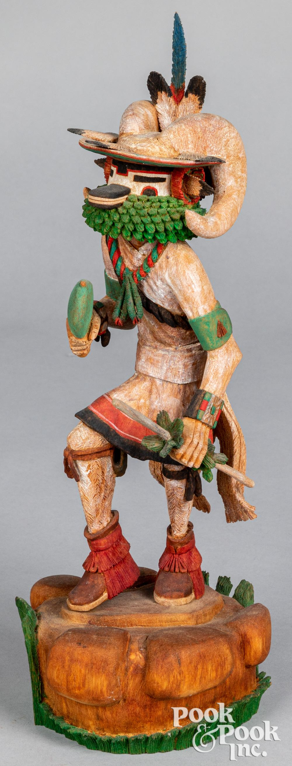 Elgean Joshevama Jr. Native American Indian figure