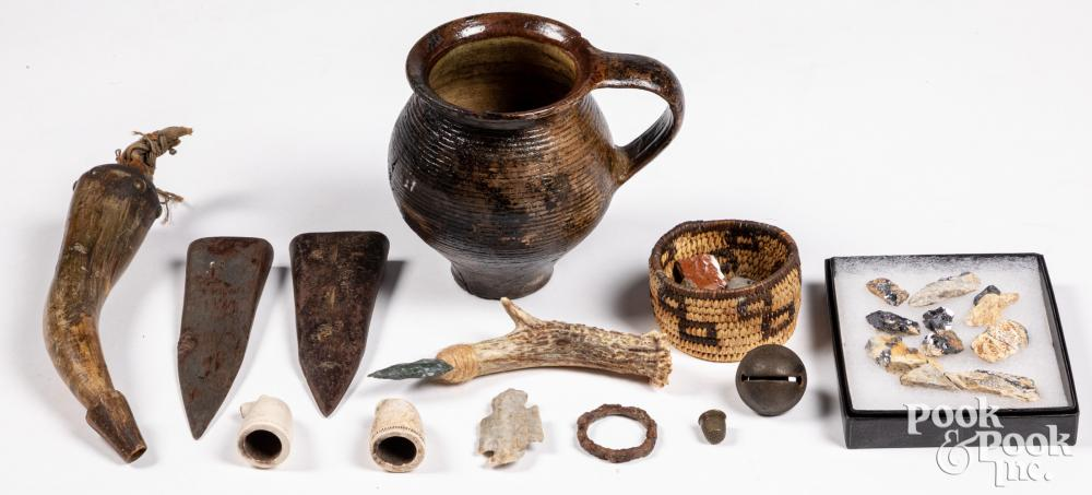 Group of Native American Indian curios