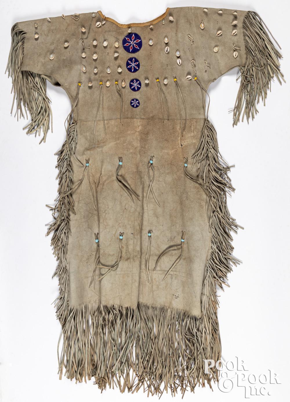 Comanche Indian woman's hide dress, mid 20th c.
