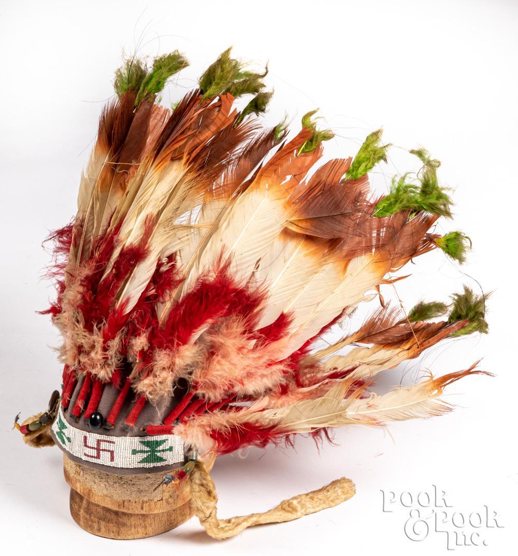 Native American Indian chief's headdress