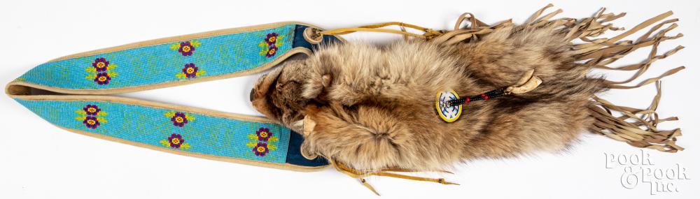 Native American Indian animal fur headdress