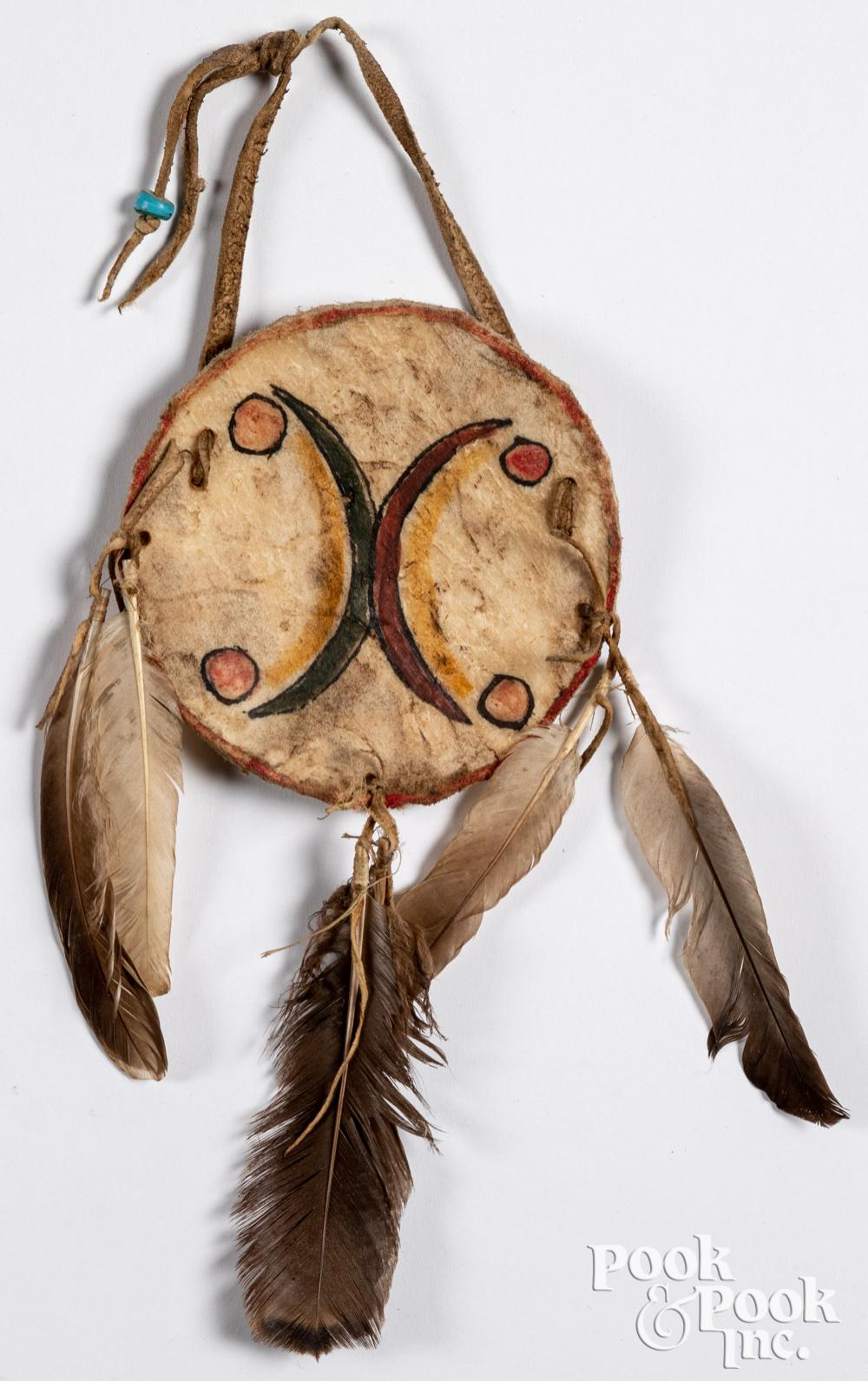 Native American Indian parfleche dreamcatcher