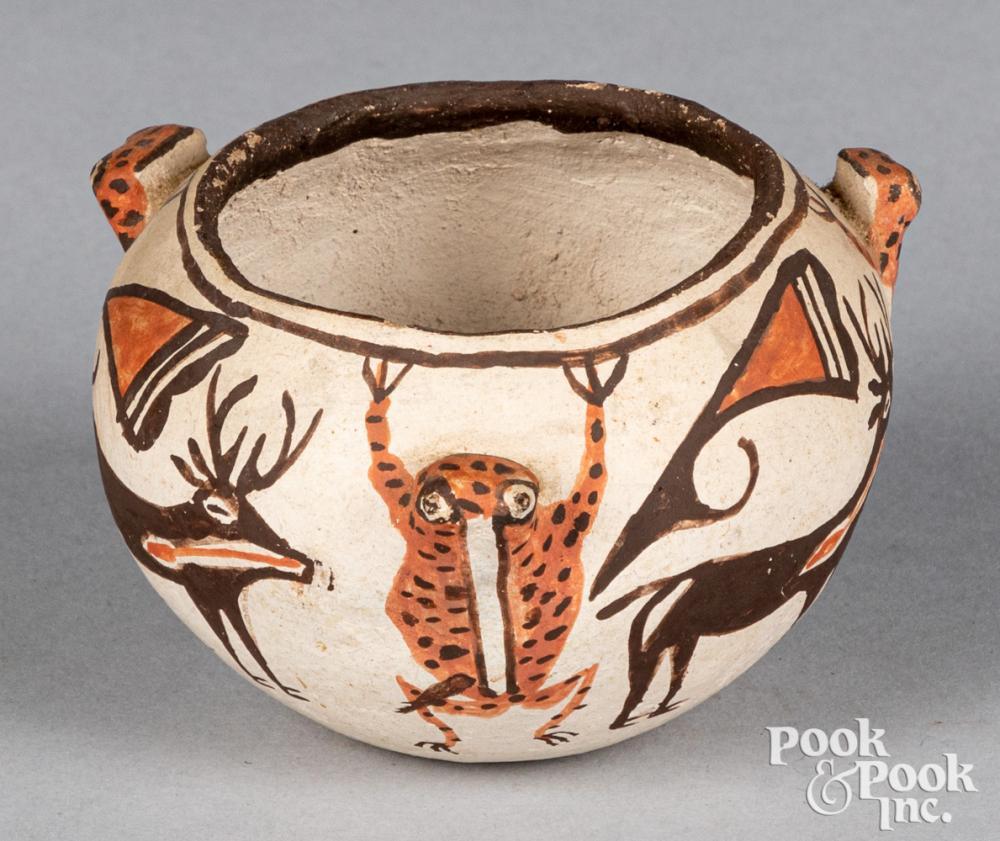 Zuni Indian polychrome bowl, early 20th c.