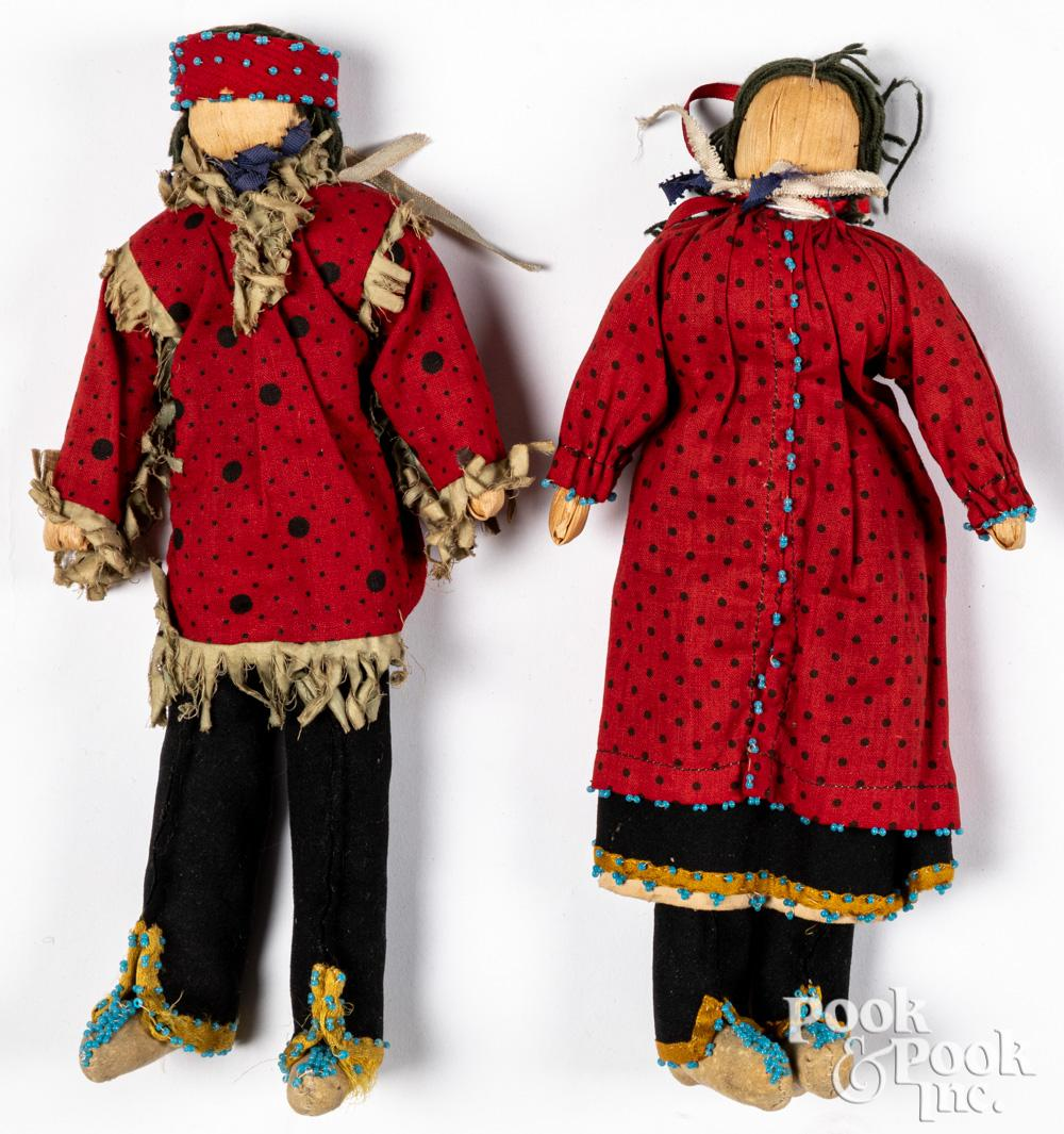Dine Navajo Indian corn husk dolls